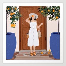 Colours of Marrakech Art Print