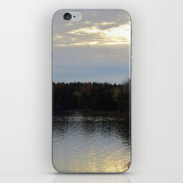 Downeast Autumn Reflections of Scattered Illuminations iPhone Skin