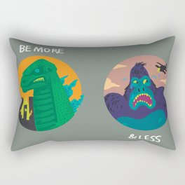 More Godzilla, Less King Kong Rectangular Pillow