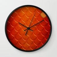 smaug Wall Clocks featuring Smaug by sevillaseas