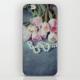 Tulips and Pearls iPhone Skin