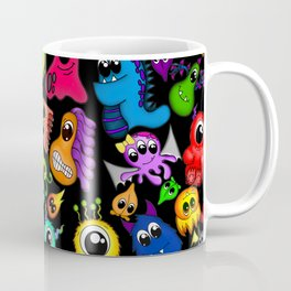 Little Monsters- Black Coffee Mug