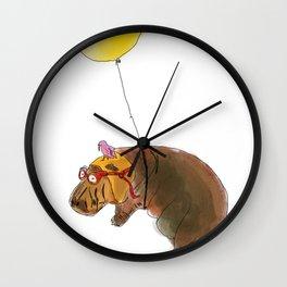 Flying Hippo Wall Clock
