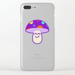 Shroomie - The friendly Magic Mushroom Clear iPhone Case