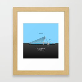 Erasmus bridge Rotterdam Framed Art Print