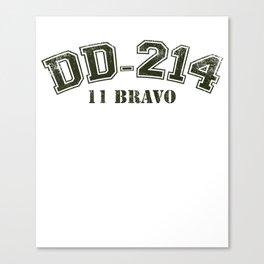 DD-214 Alumni product US 11 Bravo Airborne Infantry design Canvas Print