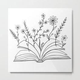 Growing & Blooming Metal Print