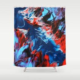 Chromatic Fire Shower Curtain