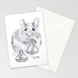Chocolate Mouse Stationery Cards