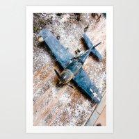 airplane Art Prints featuring Airplane by Mauricio Santana