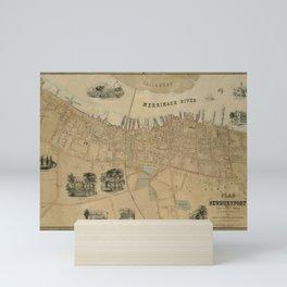 Map of Newburyport 1851 Mini Art Print