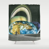 lonely Shower Curtains featuring lonely by Raw Flakes Collages