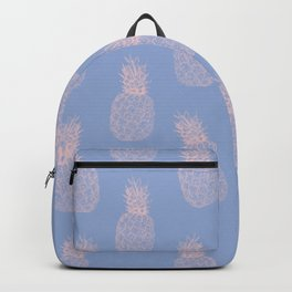 Piña Colada Forever   Pineapple Illustration in Serenity&Millennial Pink   L'ananas Backpack