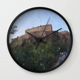 Edinburgh Castle from Johnston Terrace Wall Clock