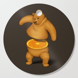 Orange Bear Cutting Board