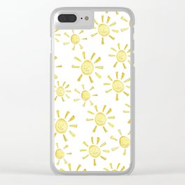 Happy Sunshine Print Clear iPhone Case