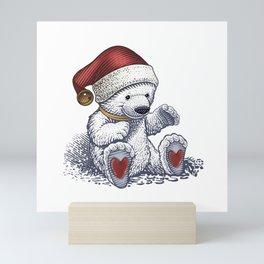 Polar Bear Loves Christmas Mini Art Print