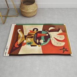 1934 Manifesto Cordial Campari Aperitif Advertisement Poster Rug