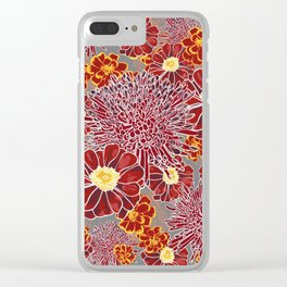 Floral Pattern I Clear iPhone Case