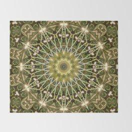 Geometric Forest Mandala Throw Blanket