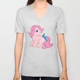 g1 my little pony Cotton Candy Unisex V-Neck
