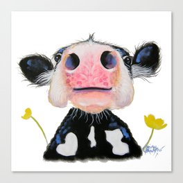 Nosey Friesian Cow ' DAFFODIL by Shirley MacArthur Canvas Print