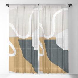 Abstract Art 27 Sheer Curtain