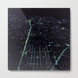 Manaus City Lights Metal Print