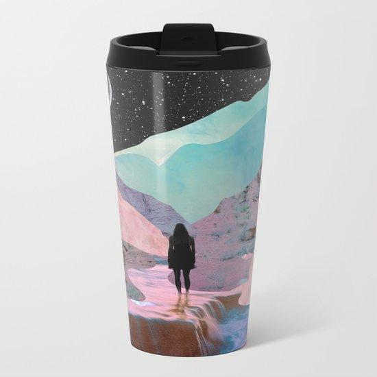The Mountains of Lemuria Metal Travel Mug