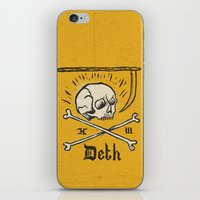 number iPhone & iPod Skins featuring Lucky Number by Landon Sheely