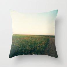 Country Roads (Rural South Dakota) Throw Pillow