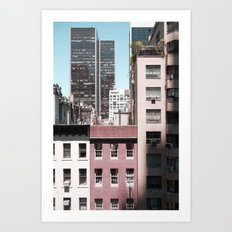 view of NYC from a MoMa window... Art Print