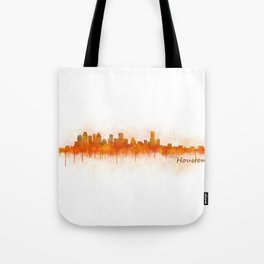 Houston City Skyline Hq v3 Tote Bag