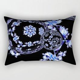 iDeal - Fractal Orbs 01 - Blue  Rectangular Pillow