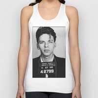 frank sinatra Tank Tops featuring Frank Sinatra Mugshot by Neon Monsters