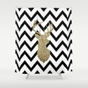 Glitter Deer Silhouette with Chevron by daniellebourland