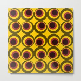 Psychedelic yellow Metal Print