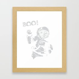 BOO !! Astronaut Skeleton Science Shirts Framed Art Print