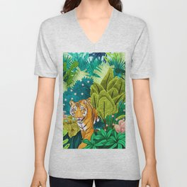 Jungle Tiger Unisex V-Neck