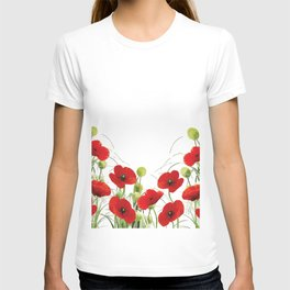 Poppy Mohn Flower Field T-shirt