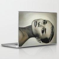 hepburn Laptop & iPad Skins featuring Audrey Hepburn by Claire Lee Art
