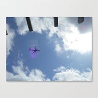 plane Canvas Prints featuring plane by Dottie