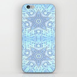 Baby Blue Gothic Stars iPhone Skin