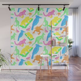 Beautiful Bright Australian Native Animals Wall Mural