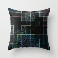 tetris Throw Pillows featuring Tetris by Audrey Erickson