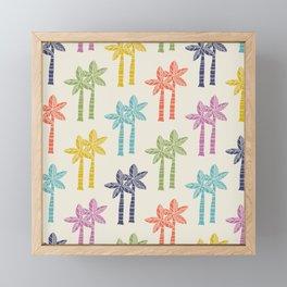 Palm Tree Pattern 22 Framed Mini Art Print