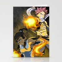 fairy tail Stationery Cards featuring Lok X Fairy Tail Crossover by Carishinlove