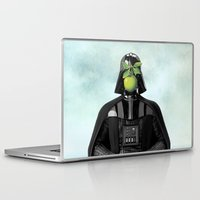 "magritte Laptop & iPad Skins featuring Darth Vader in ""The Son of a Man"" by Magritte by Luigi Tarini"