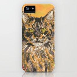 Honeysuckle Cat (Maine Coon Cat) iPhone Case