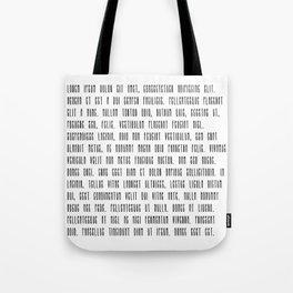 Lorem ipsum dolor sit met quote Tote Bag
